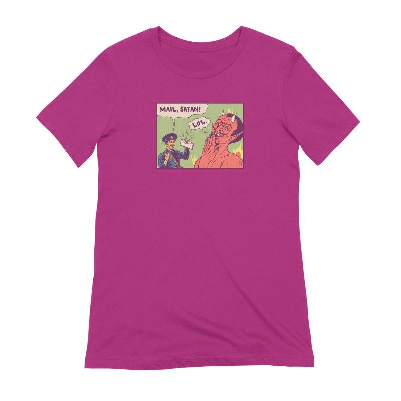 Mail, Satan! Women's Extra Soft T-Shirt by hillarywhiterabbit's Artist Shop