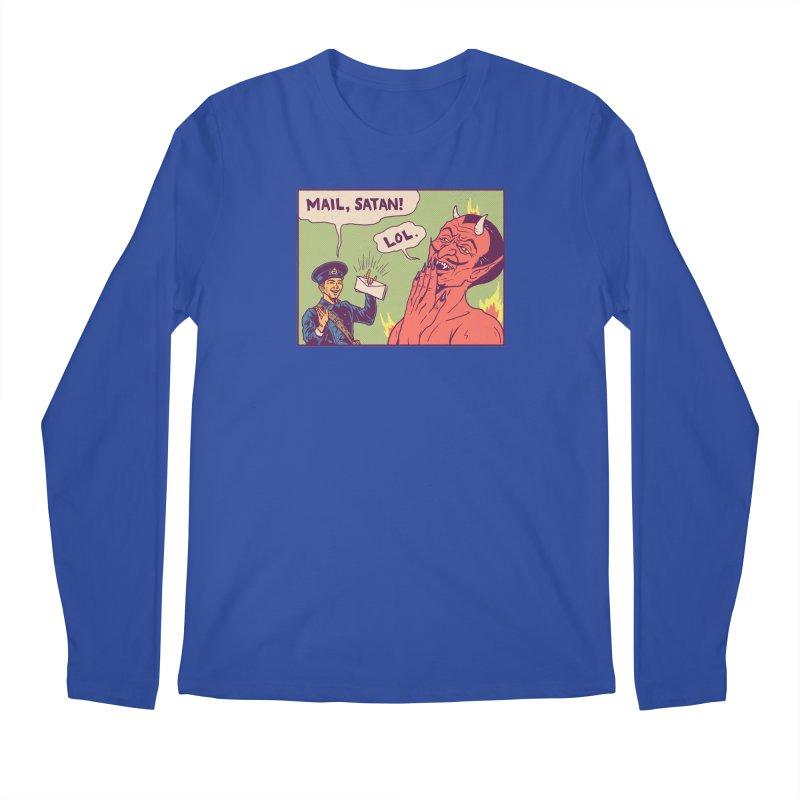Mail, Satan! Men's Regular Longsleeve T-Shirt by hillarywhiterabbit's Artist Shop