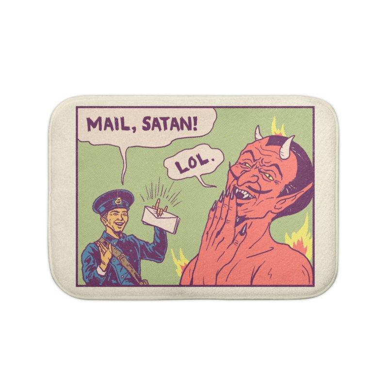Mail, Satan! Home Bath Mat by hillarywhiterabbit's Artist Shop
