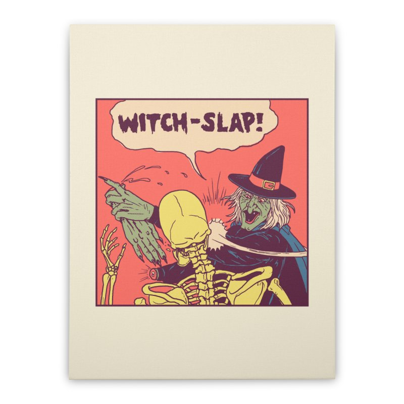 Witch-Slap Home Stretched Canvas by hillarywhiterabbit's Artist Shop
