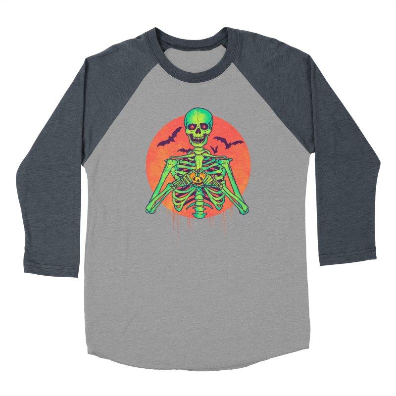 I Love Halloween Men's Baseball Triblend Longsleeve T-Shirt by hillarywhiterabbit's Artist Shop