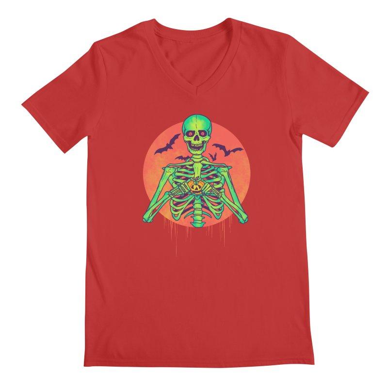 I Love Halloween Men's Regular V-Neck by hillarywhiterabbit's Artist Shop