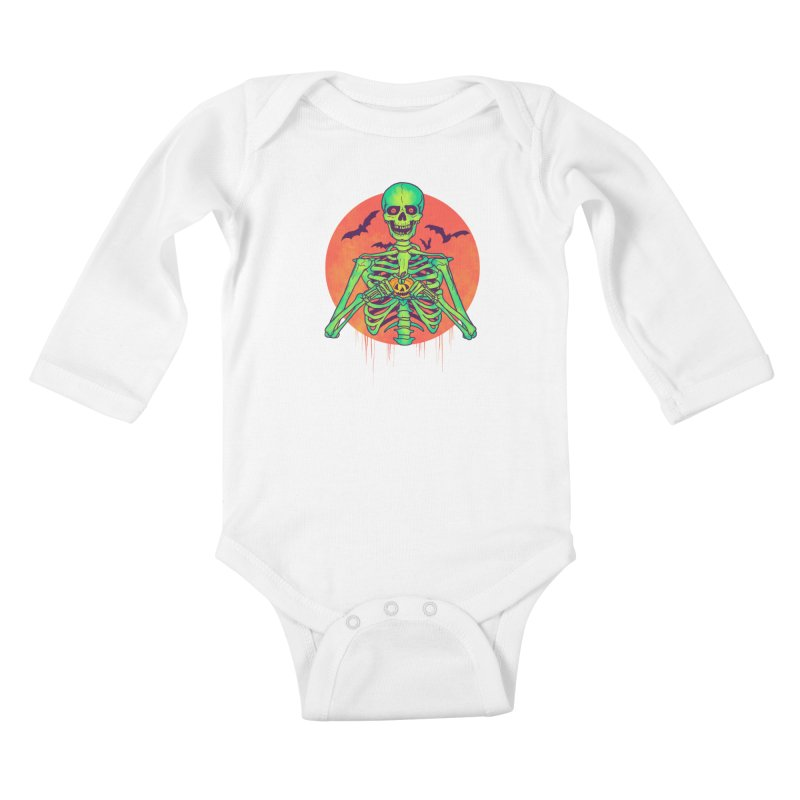 I Love Halloween Kids Baby Longsleeve Bodysuit by hillarywhiterabbit's Artist Shop