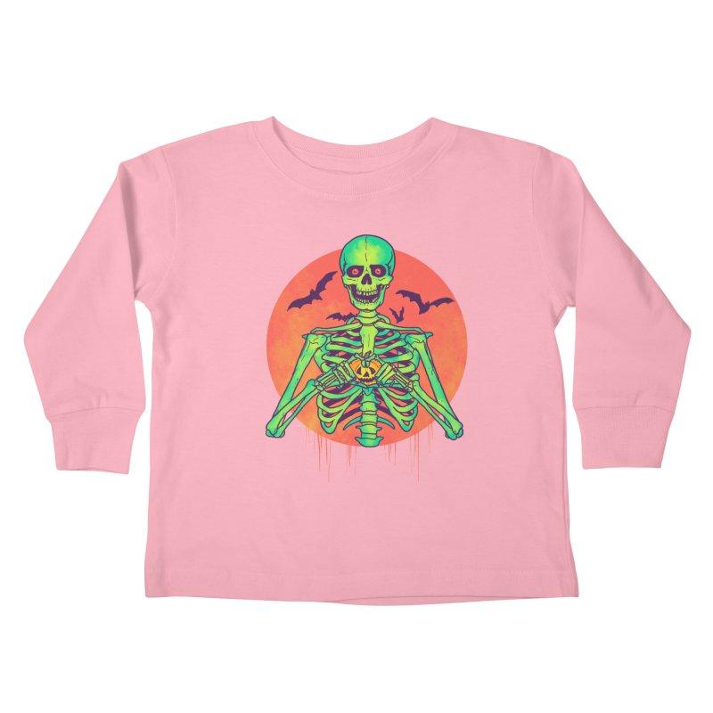 I Love Halloween Kids Toddler Longsleeve T-Shirt by hillarywhiterabbit's Artist Shop