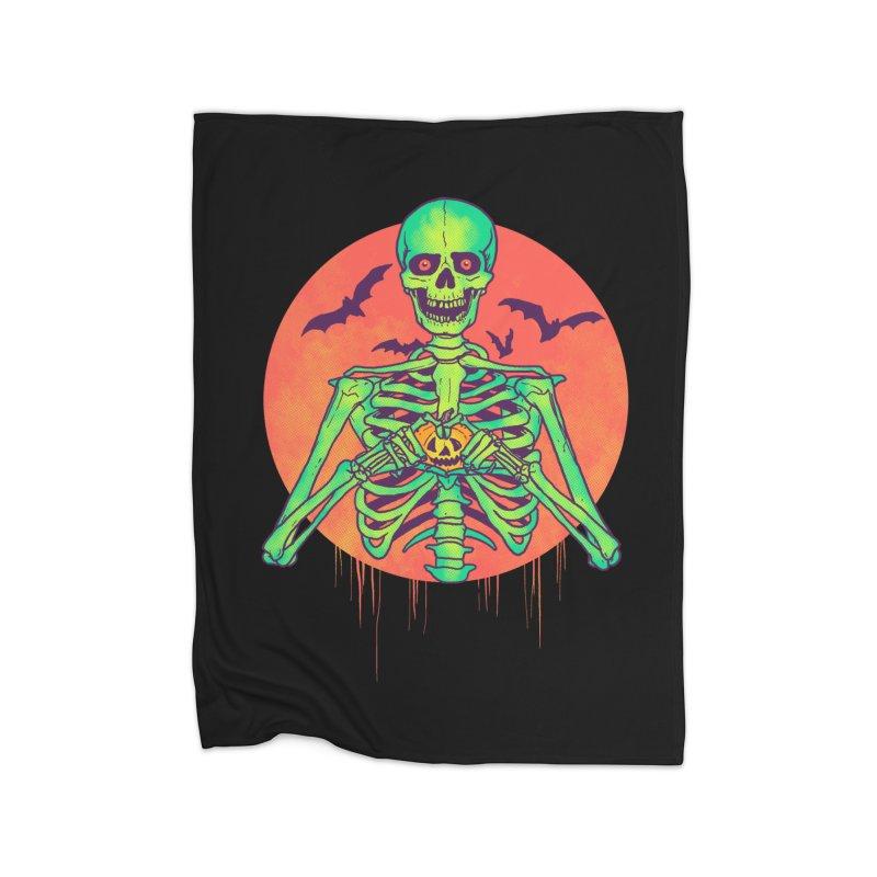 I Love Halloween Home Blanket by hillarywhiterabbit's Artist Shop