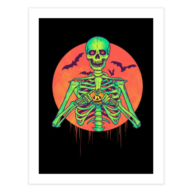 I Love Halloween Home Fine Art Print by hillarywhiterabbit's Artist Shop