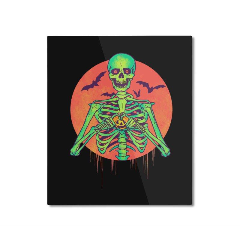 I Love Halloween Home Mounted Aluminum Print by hillarywhiterabbit's Artist Shop