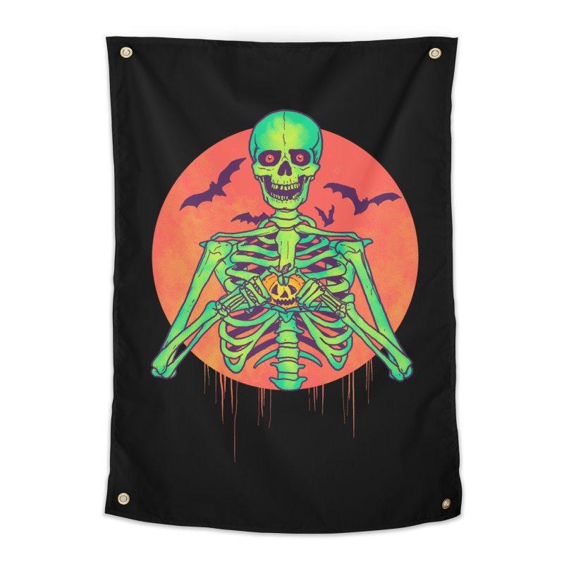 I Love Halloween Home Tapestry by hillarywhiterabbit's Artist Shop