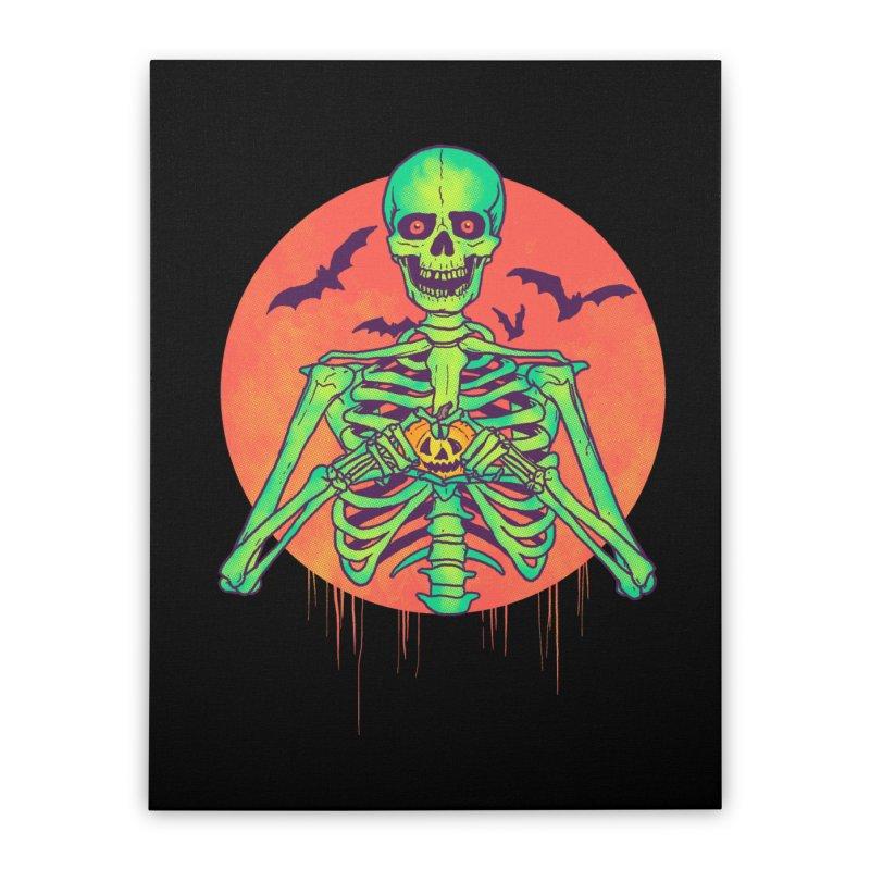 I Love Halloween Home Stretched Canvas by hillarywhiterabbit's Artist Shop