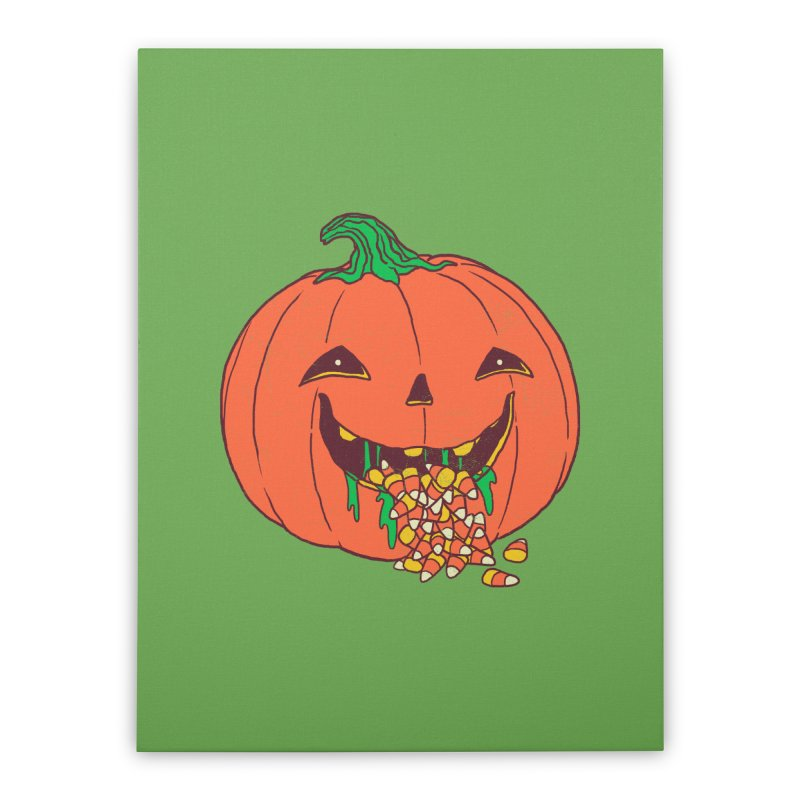Halloween Hangover Home Stretched Canvas by hillarywhiterabbit's Artist Shop