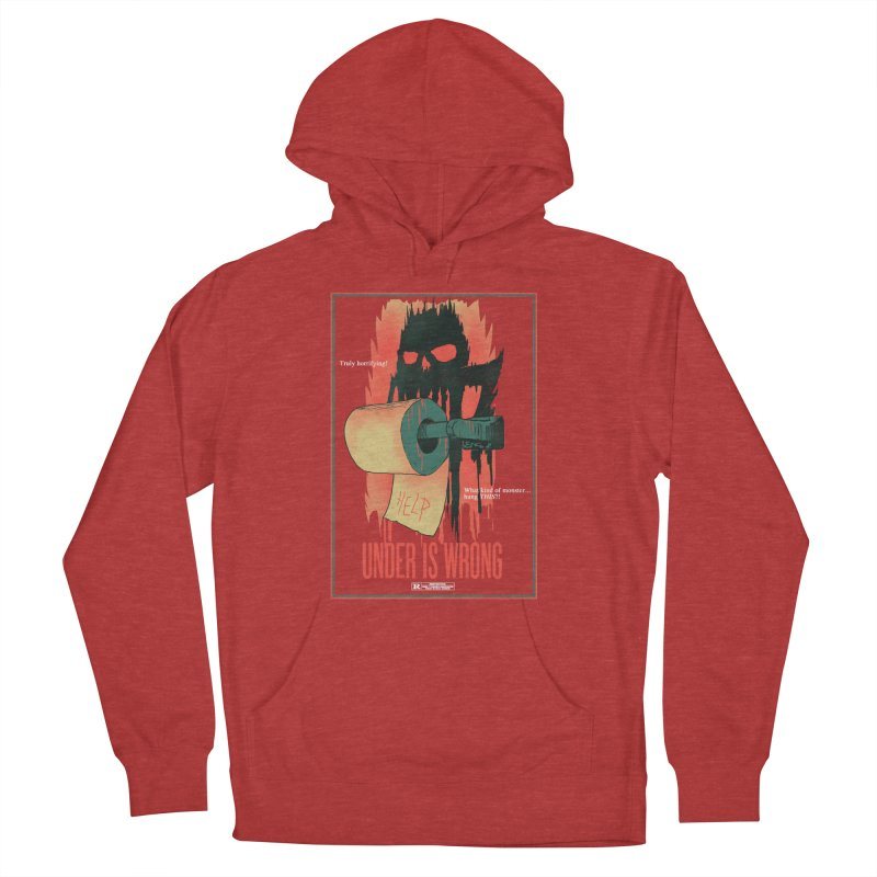 Under Is Wrong Men's French Terry Pullover Hoody by hillarywhiterabbit's Artist Shop