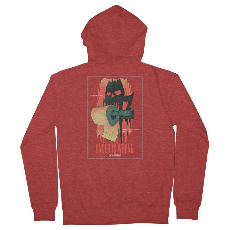 Under Is Wrong Men's French Terry Zip-Up Hoody by hillarywhiterabbit's Artist Shop