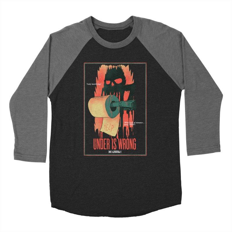 Under Is Wrong Men's Baseball Triblend Longsleeve T-Shirt by hillarywhiterabbit's Artist Shop