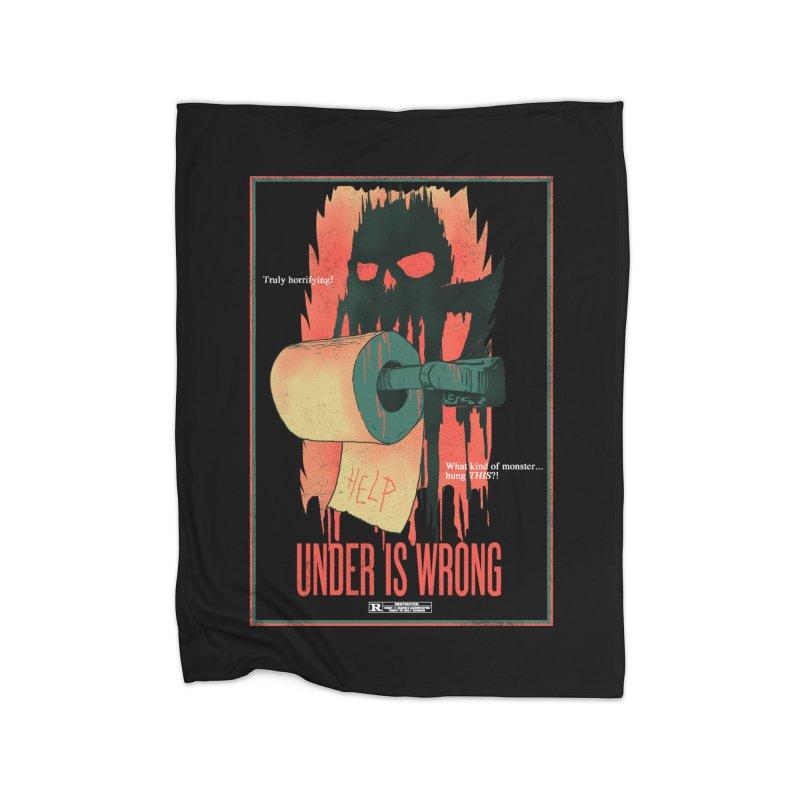 Under Is Wrong Home Blanket by hillarywhiterabbit's Artist Shop