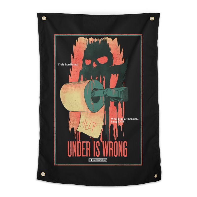 Under Is Wrong Home Tapestry by hillarywhiterabbit's Artist Shop