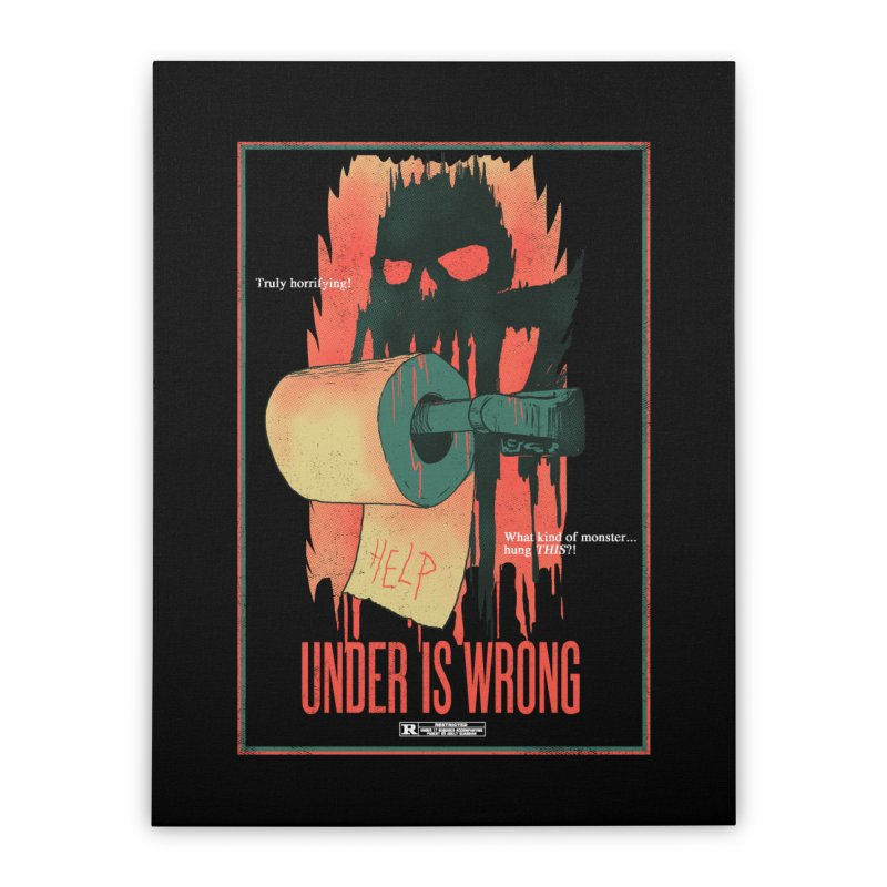 Under Is Wrong Home Stretched Canvas by hillarywhiterabbit's Artist Shop