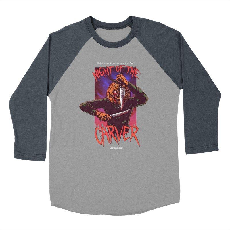 Night of the Carver Women's Baseball Triblend Longsleeve T-Shirt by hillarywhiterabbit's Artist Shop