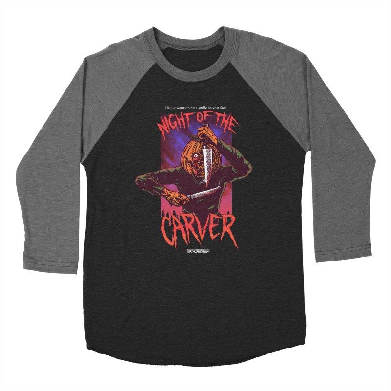 Night of the Carver Men's Baseball Triblend Longsleeve T-Shirt by hillarywhiterabbit's Artist Shop