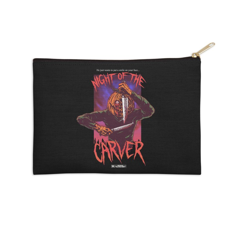 Night of the Carver Accessories Zip Pouch by hillarywhiterabbit's Artist Shop