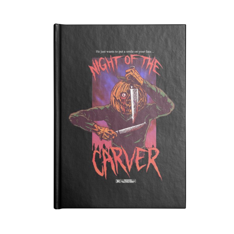 Night of the Carver Accessories Notebook by hillarywhiterabbit's Artist Shop