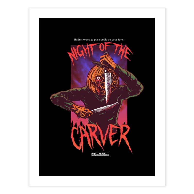 Night of the Carver Home Fine Art Print by hillarywhiterabbit's Artist Shop