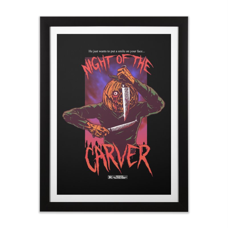 Night of the Carver Home Framed Fine Art Print by hillarywhiterabbit's Artist Shop