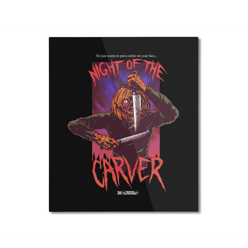 Night of the Carver Home Mounted Aluminum Print by hillarywhiterabbit's Artist Shop