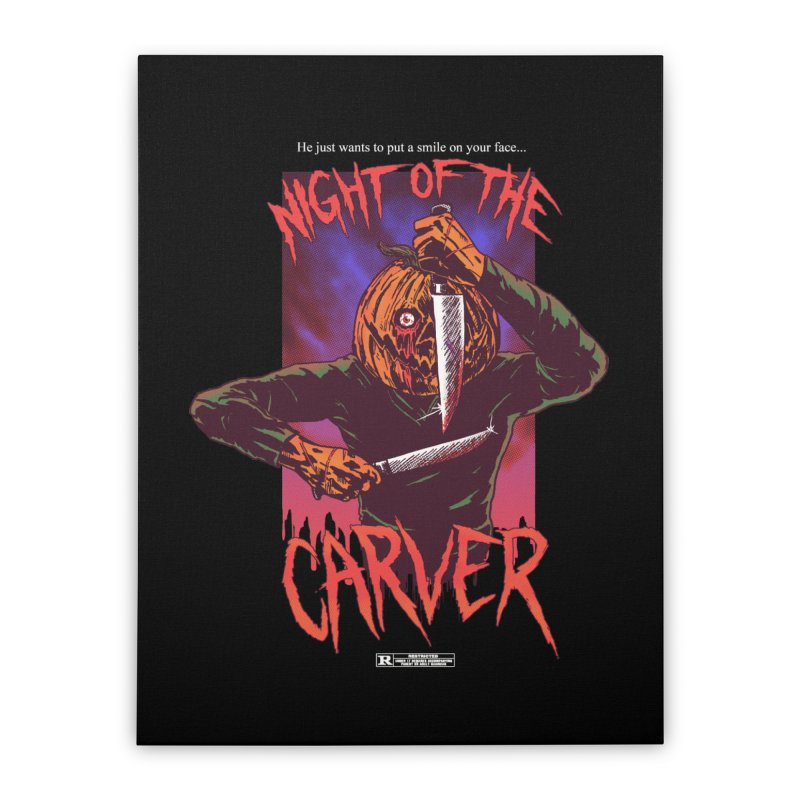 Night of the Carver Home Stretched Canvas by hillarywhiterabbit's Artist Shop