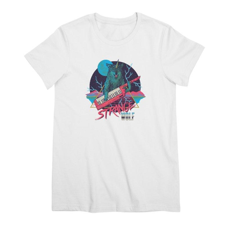 Strange Wolf Women's Premium T-Shirt by hillarywhiterabbit's Artist Shop