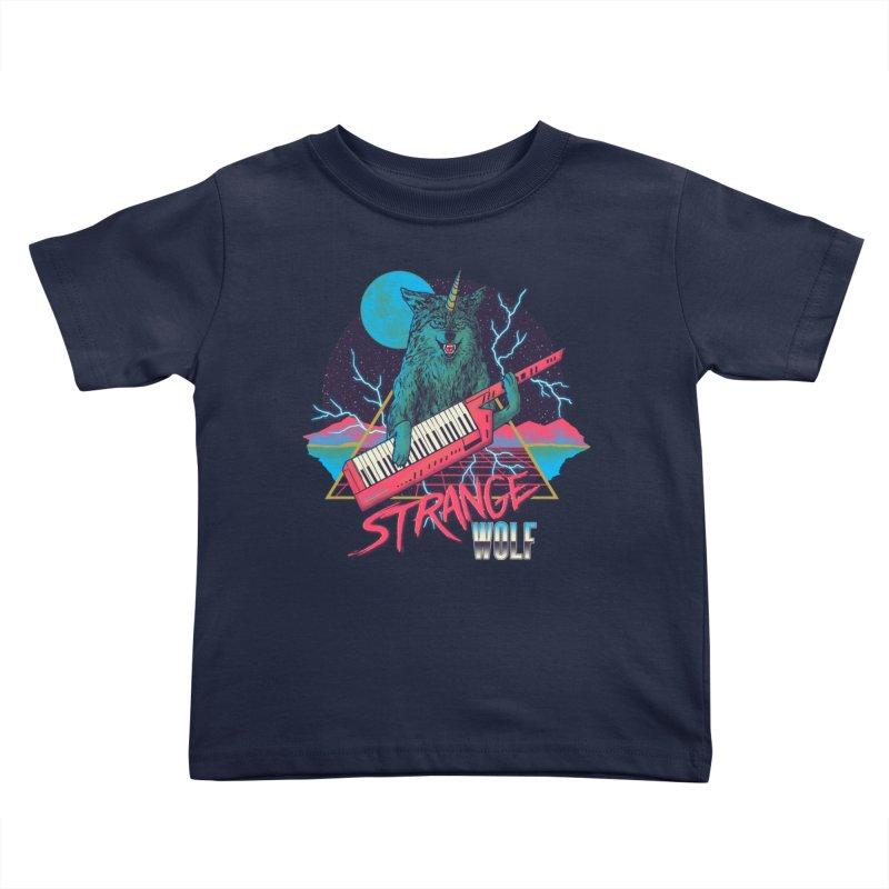 Strange Wolf Kids Toddler T-Shirt by hillarywhiterabbit's Artist Shop
