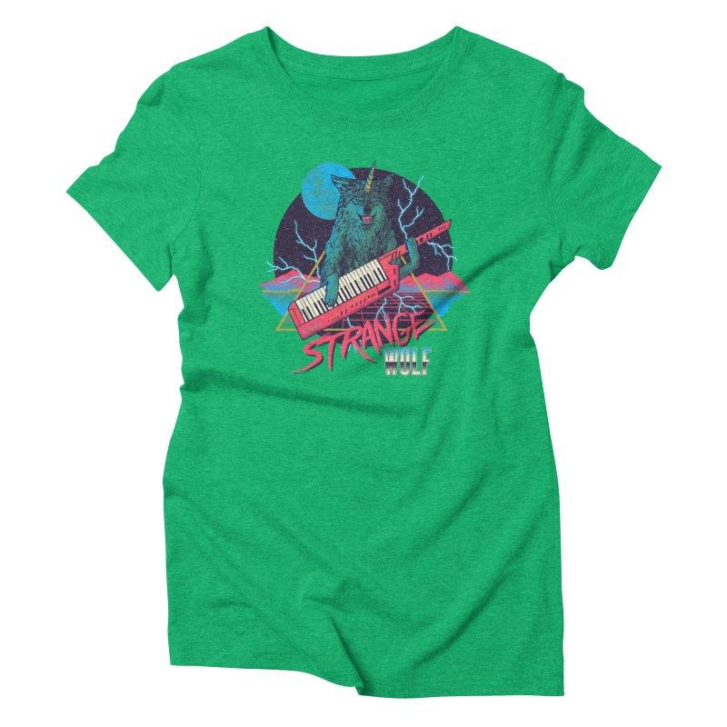 Strange Wolf Women's Triblend T-Shirt by hillarywhiterabbit's Artist Shop