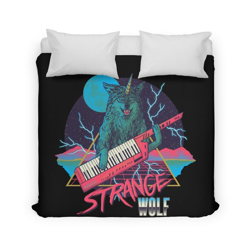 Strange Wolf Home Duvet by hillarywhiterabbit's Artist Shop