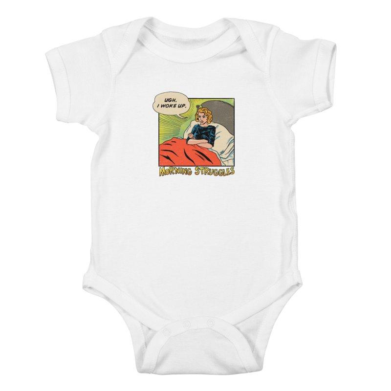Morning Struggles Kids Baby Bodysuit by hillarywhiterabbit's Artist Shop