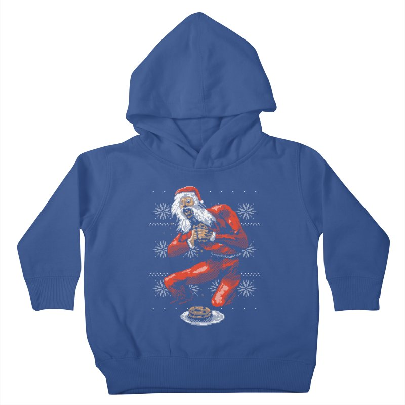 Santa Devouring His Cookies Kids Toddler Pullover Hoody by hillarywhiterabbit's Artist Shop