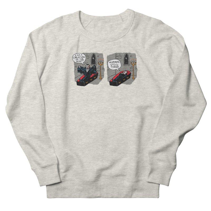 Creature Of The Night Men's French Terry Sweatshirt by hillarywhiterabbit's Artist Shop