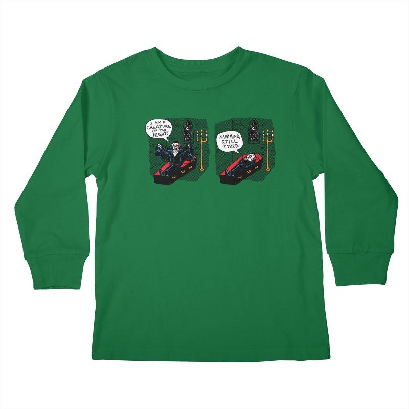 Creature Of The Night Kids Longsleeve T-Shirt by hillarywhiterabbit's Artist Shop