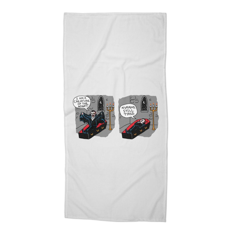 Creature Of The Night Accessories Beach Towel by hillarywhiterabbit's Artist Shop