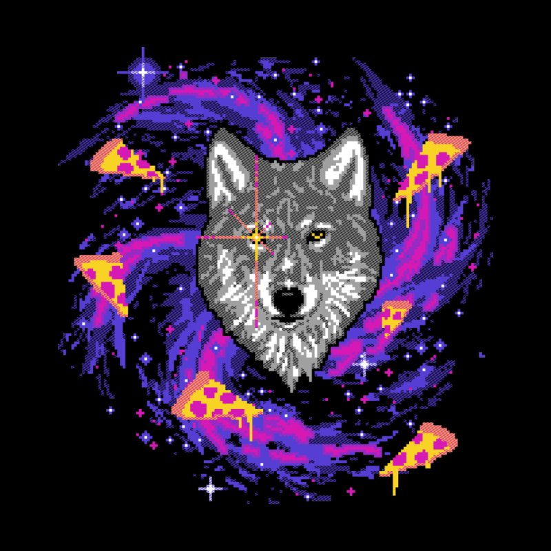 Galactic Pizza Wolf by hillarywhiterabbit's Artist Shop