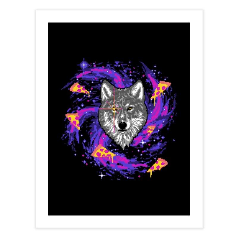 Galactic Pizza Wolf Home Fine Art Print by hillarywhiterabbit's Artist Shop