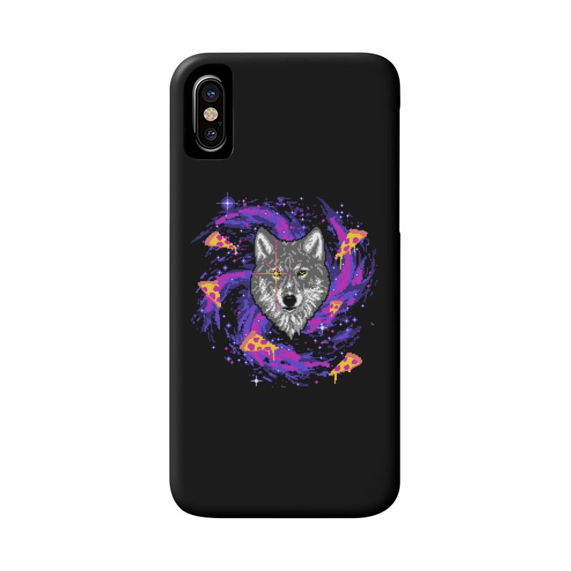 Galactic Pizza Wolf Accessories Phone Case by hillarywhiterabbit's Artist Shop