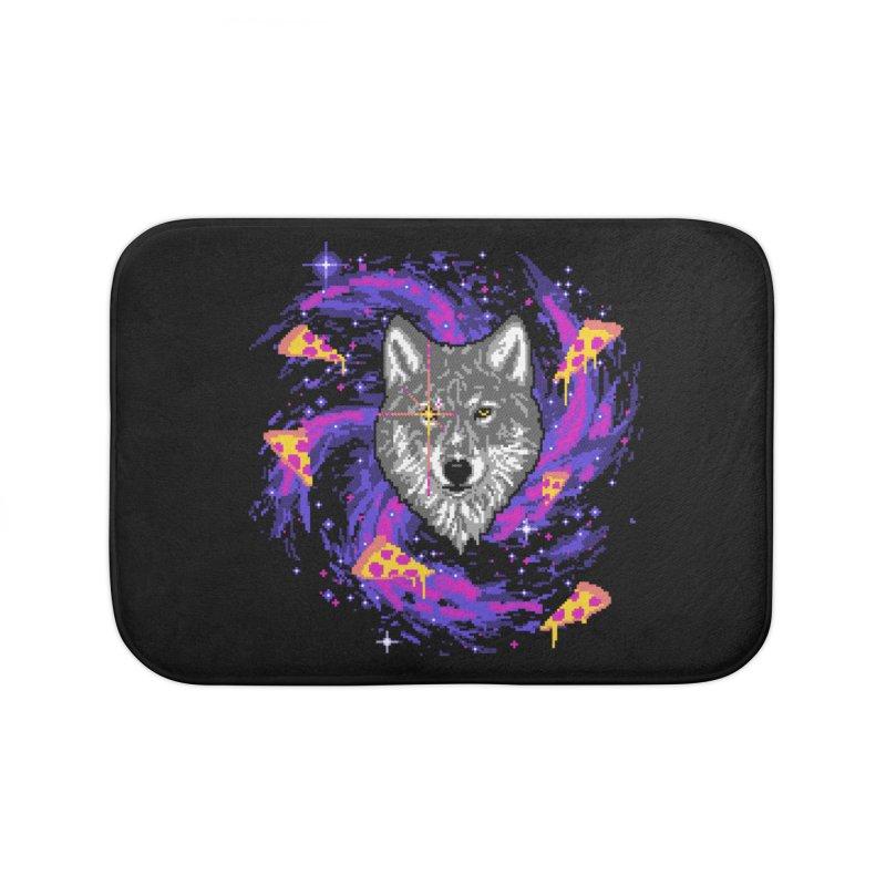 Galactic Pizza Wolf Home Bath Mat by hillarywhiterabbit's Artist Shop