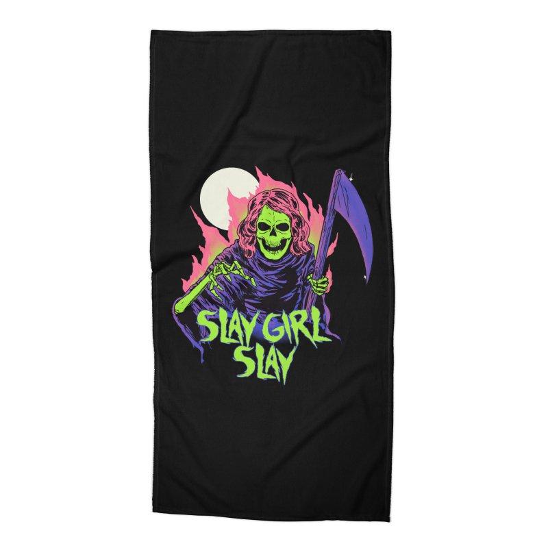 Girl Reaper Accessories Beach Towel by hillarywhiterabbit's Artist Shop