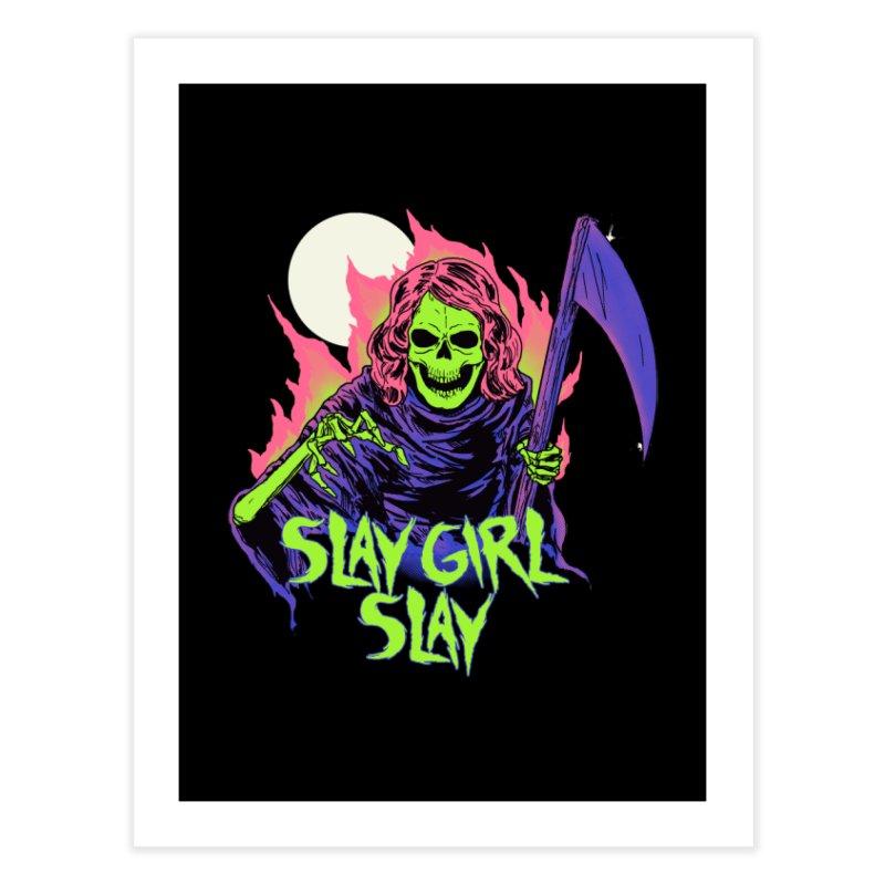Girl Reaper Home Fine Art Print by hillarywhiterabbit's Artist Shop