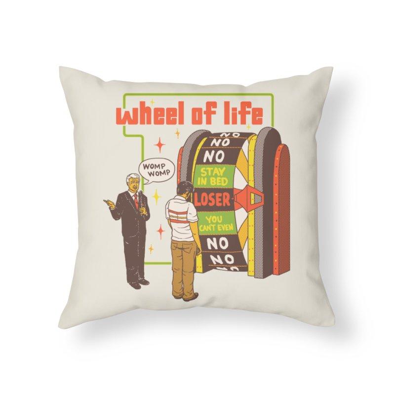 Wheel Of Life Home Throw Pillow by hillarywhiterabbit's Artist Shop