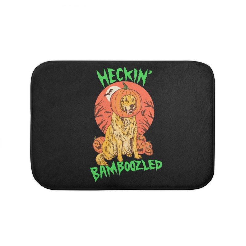 Doggo Lantern Home Bath Mat by hillarywhiterabbit's Artist Shop