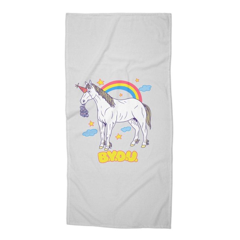 Bring Your Own Unicorn Accessories Beach Towel by hillarywhiterabbit's Artist Shop