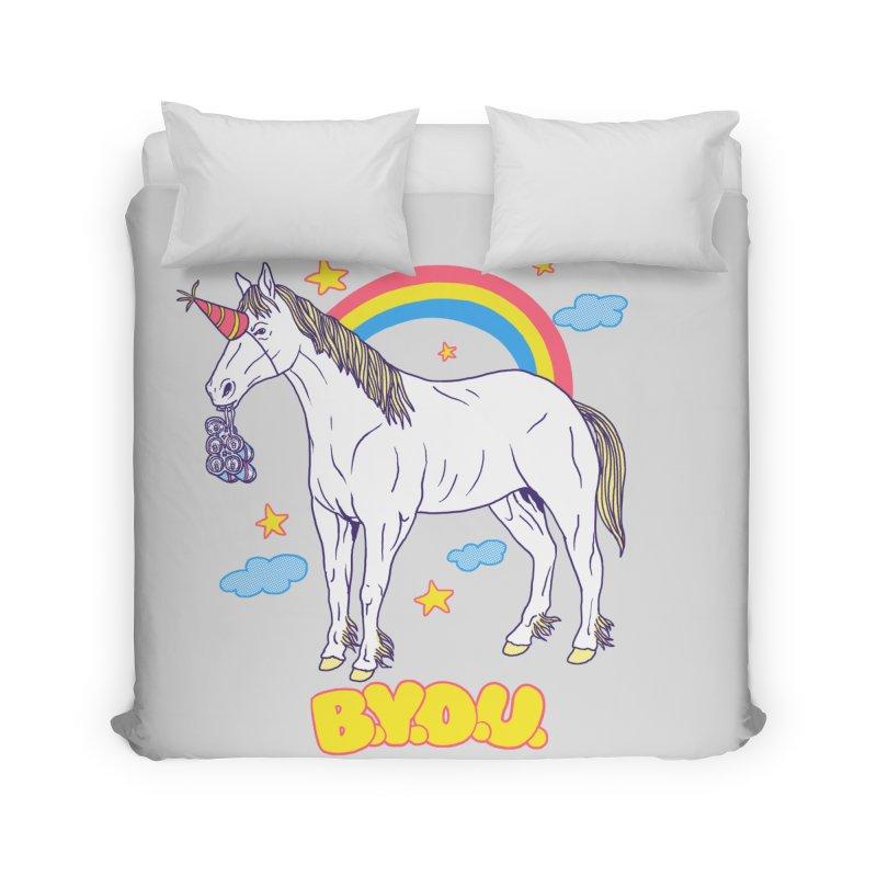 Bring Your Own Unicorn Home Duvet by hillarywhiterabbit's Artist Shop