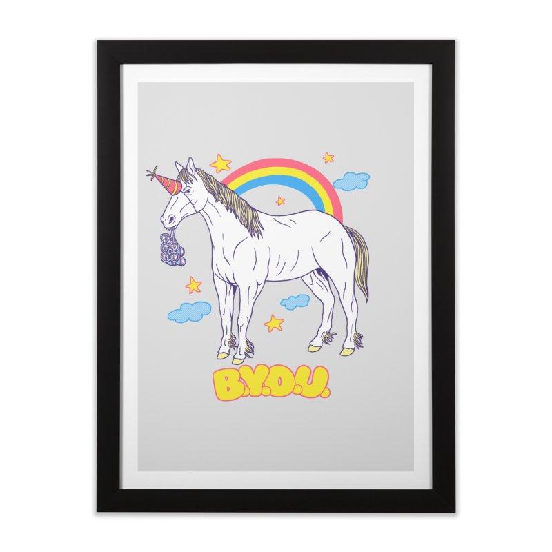 Bring Your Own Unicorn Home Framed Fine Art Print by hillarywhiterabbit's Artist Shop