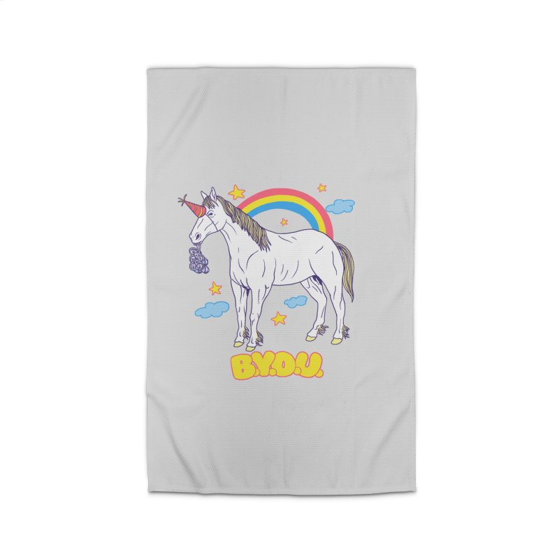 Bring Your Own Unicorn Home Rug by hillarywhiterabbit's Artist Shop