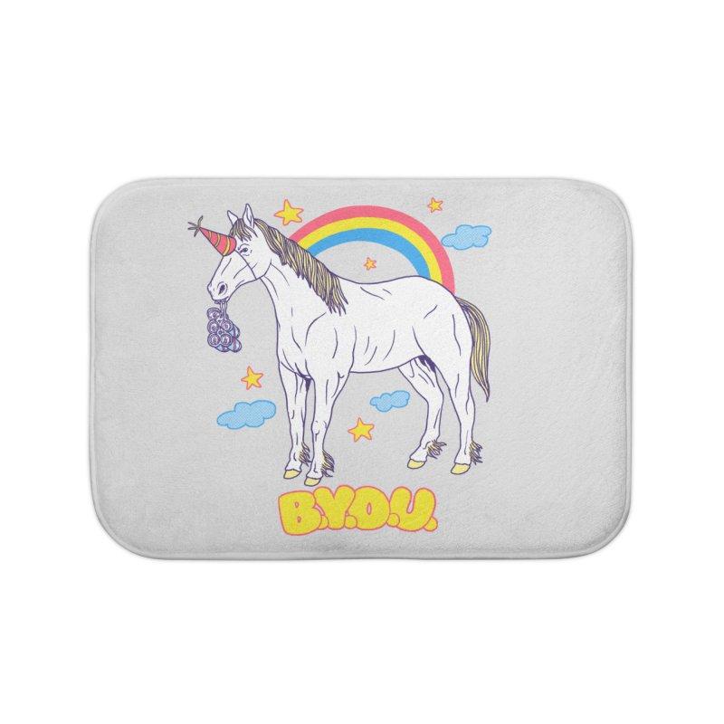 Bring Your Own Unicorn Home Bath Mat by hillarywhiterabbit's Artist Shop